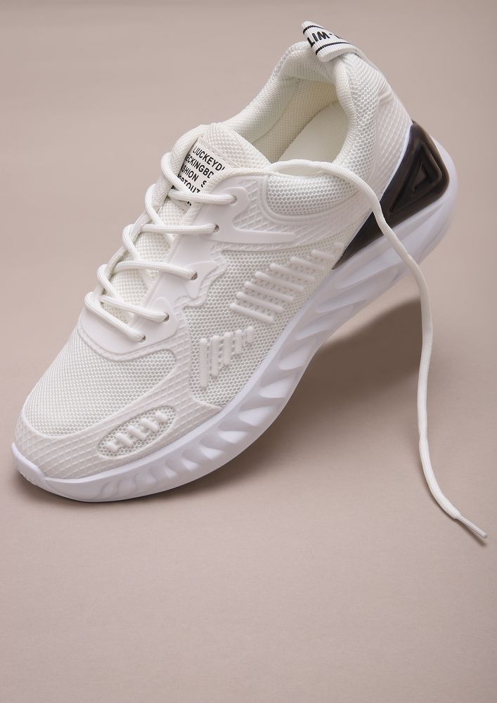 THE HIGH-FASHION CLUB WHITE TRAINERS