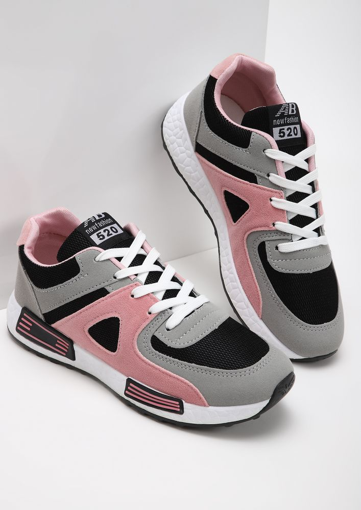 THE GO-GETTER KICKS PINK TRAINERS
