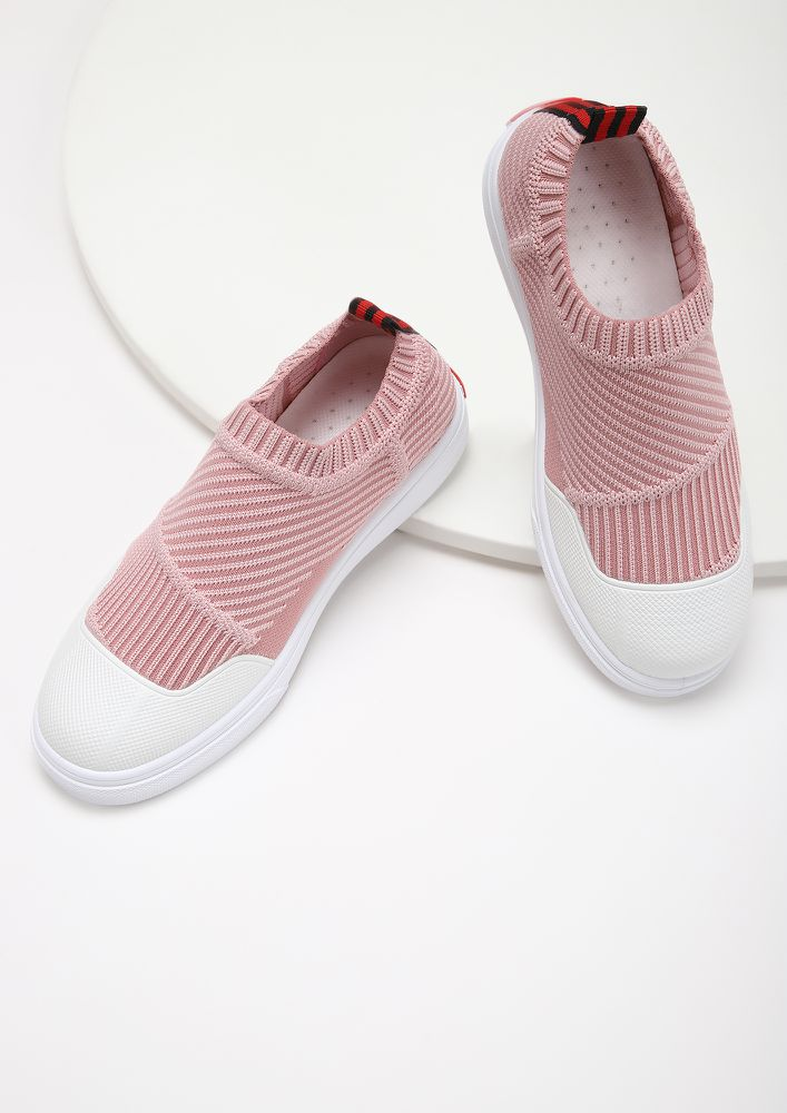 COMFY FEET PINK CASUAL SHOES