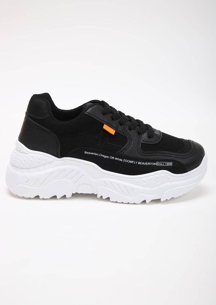 ADVENTURE READY BLACK SNEAKERS
