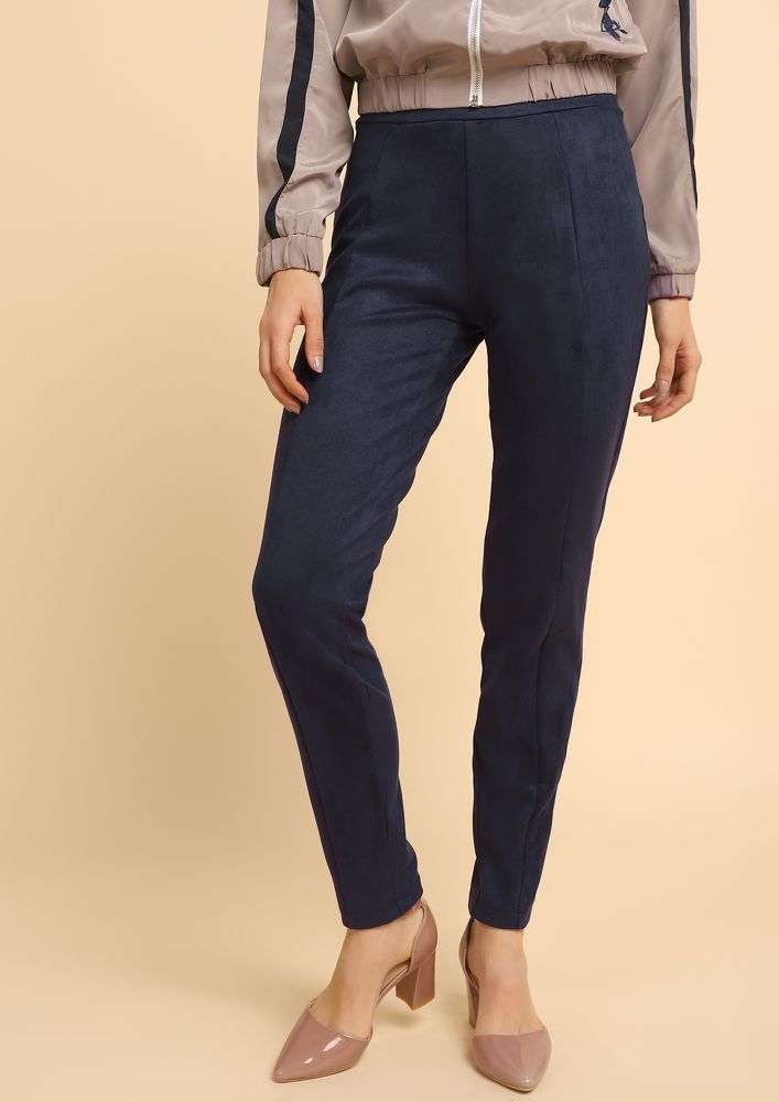 UNFINISHED BUSINESS DARK BLUE TROUSERS