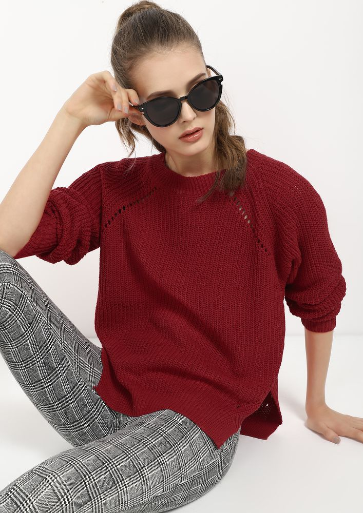 GET YOUR KNIT RIGHT RED JUMPER