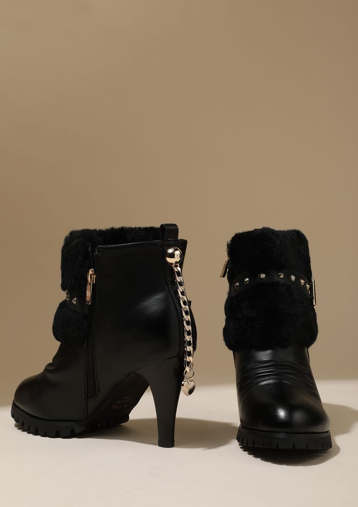 SUCH A DIVA BLACK HEELED BOOTS