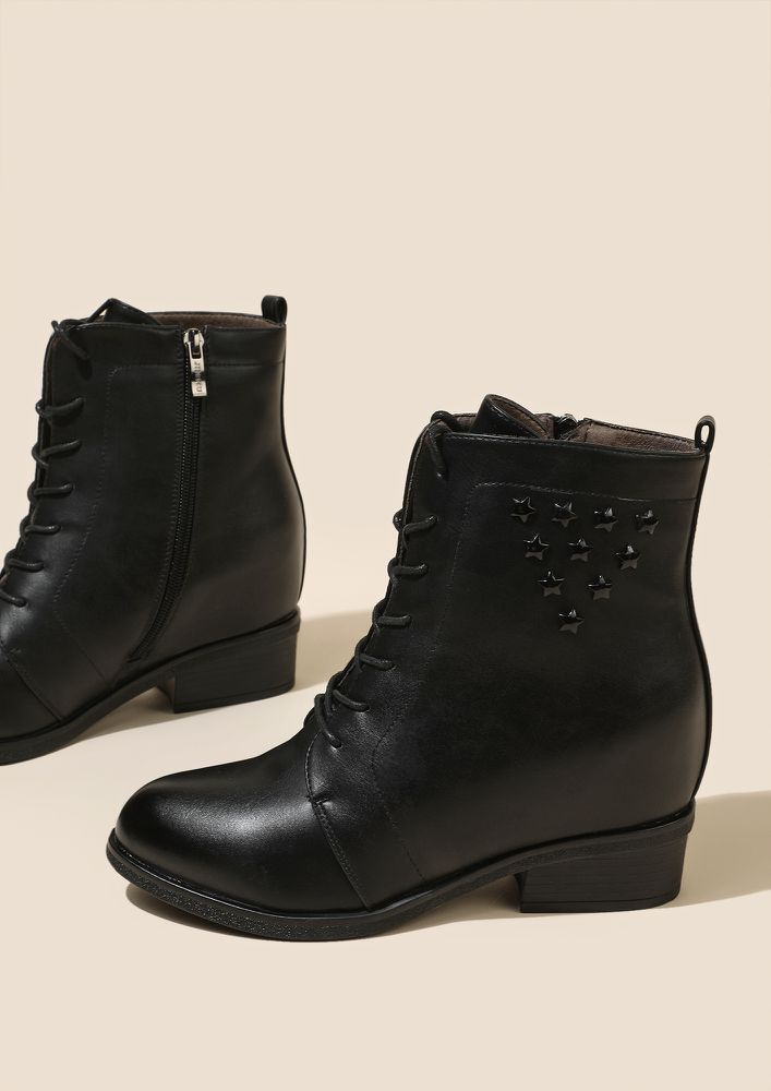 POLISHED AND READY TO GO BLACK BOOTS