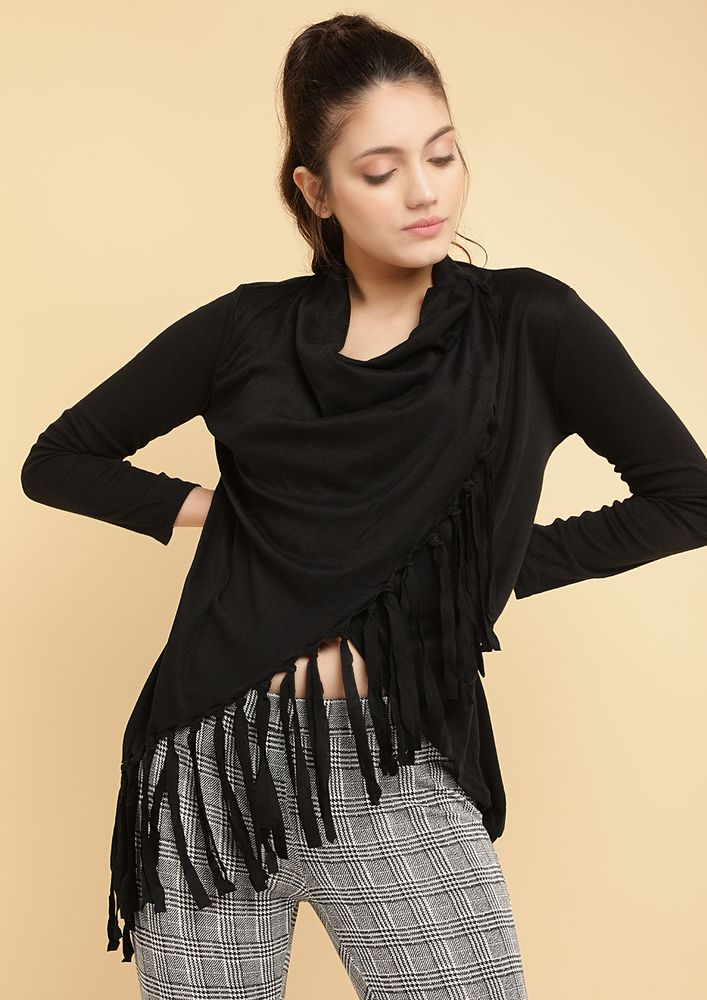 FRINGE BY FRINGE BLACK TOP