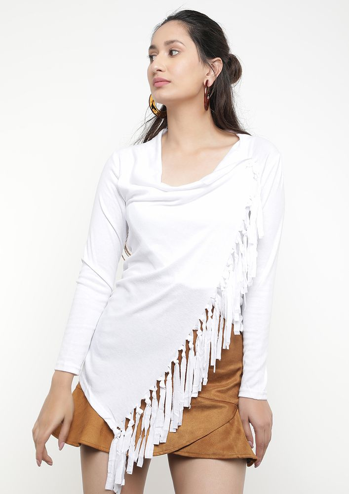 FRINGE BY FRINGE WHITE TOP