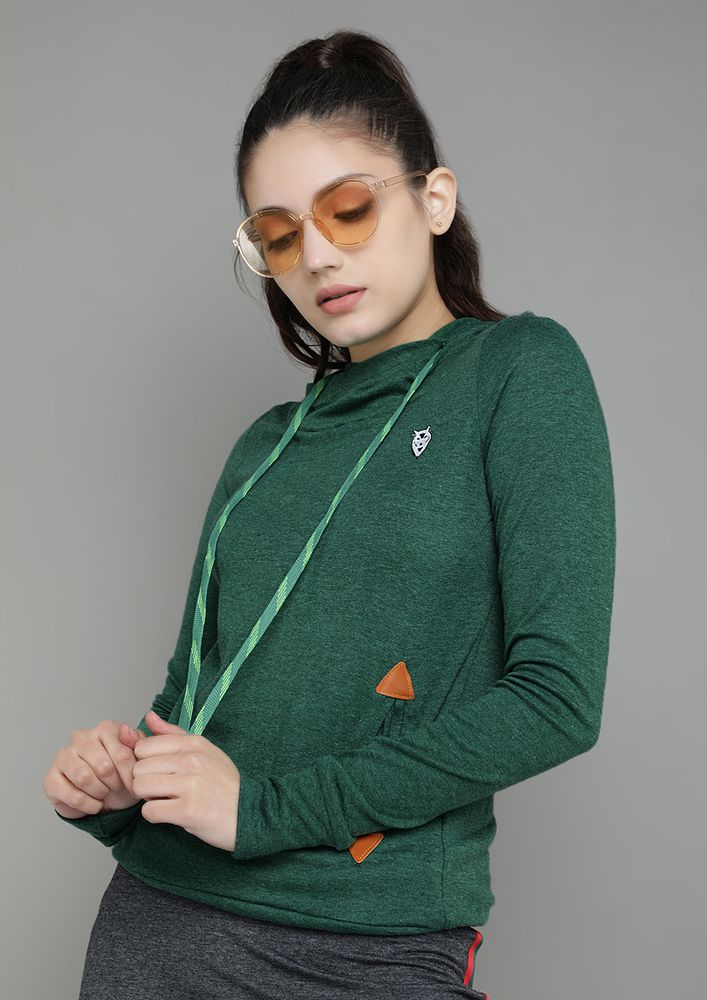 NO COLD DAYS GREEN HOODED T-SHIRT
