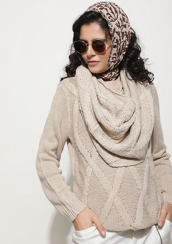 INFINITE POSSIBILITIES BEIGE JUMPER