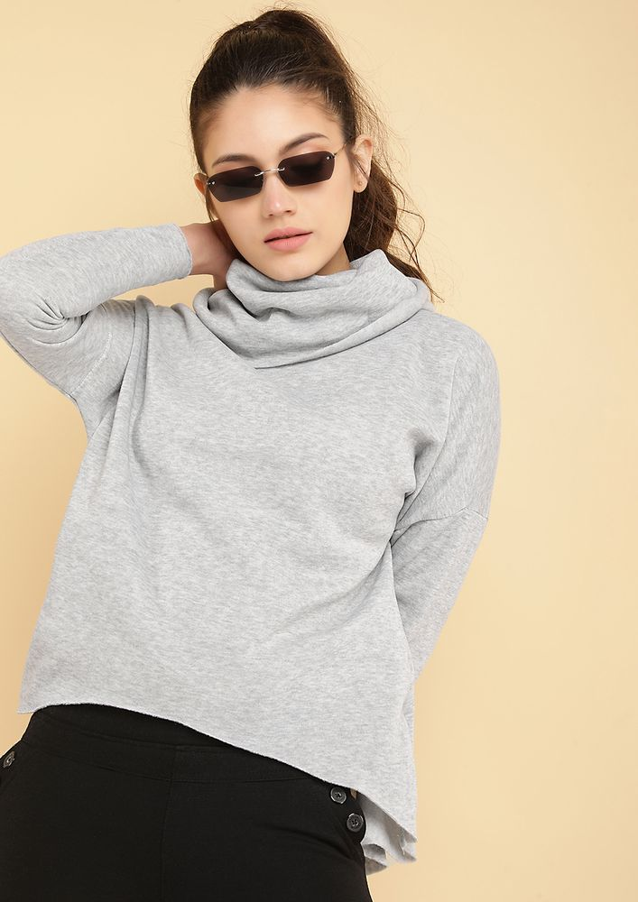 ON A ROLL GREY SWEATSHIRT