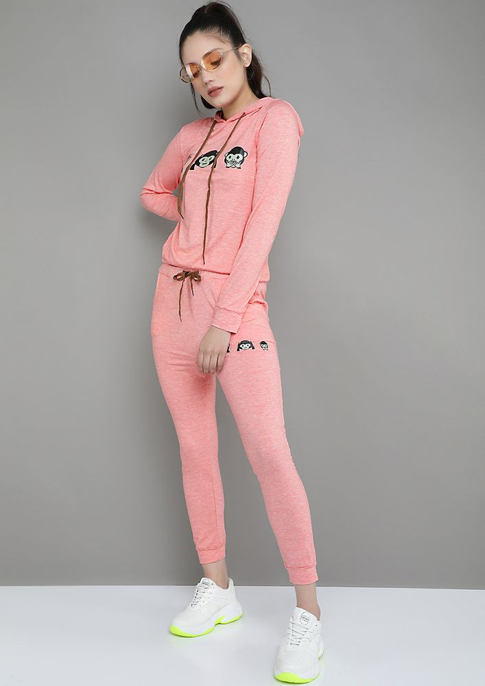 YOUR ATHLEISURE BASIC PINK TRACKSUIT