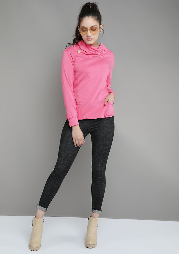 OUT FOR THE CHILL PINK SWEATSHIRT