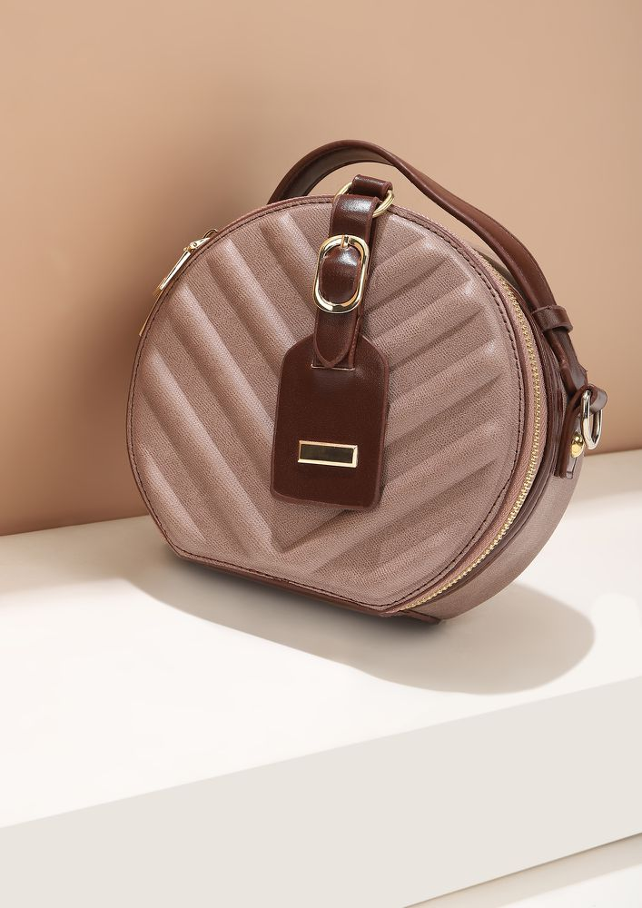 THE SMART POUCH BROWN CLUTCH