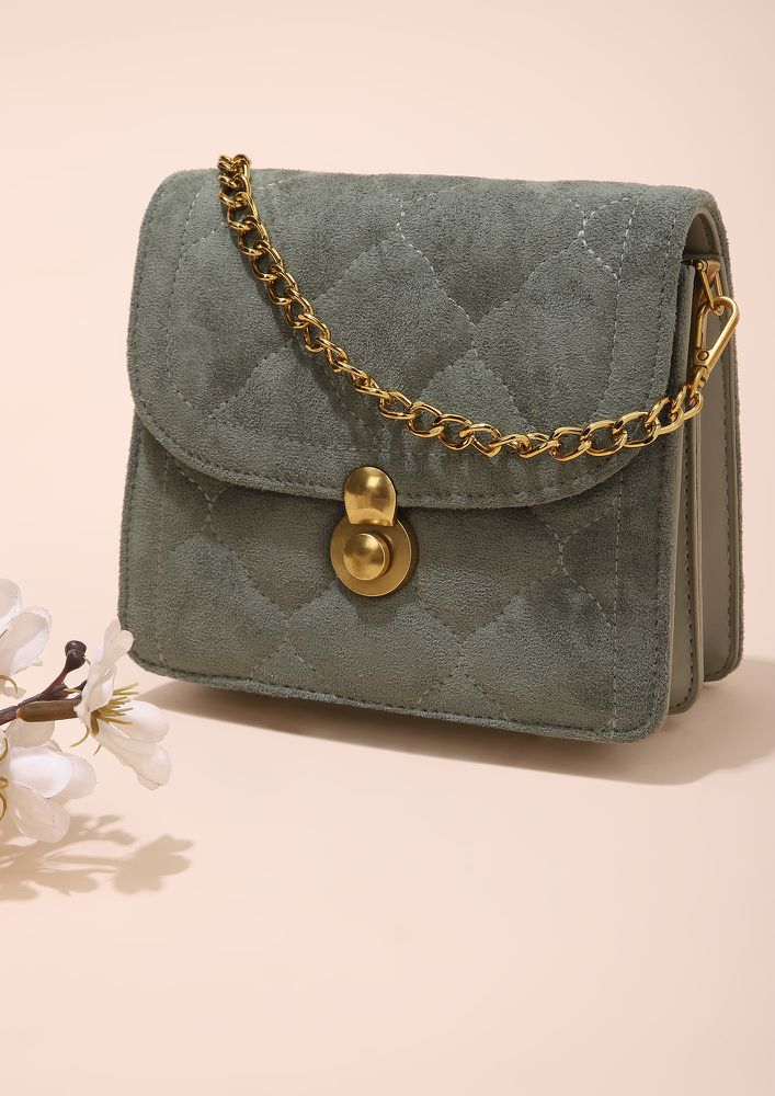 CLASSY FOR THE DAY GREEN SLING BAG