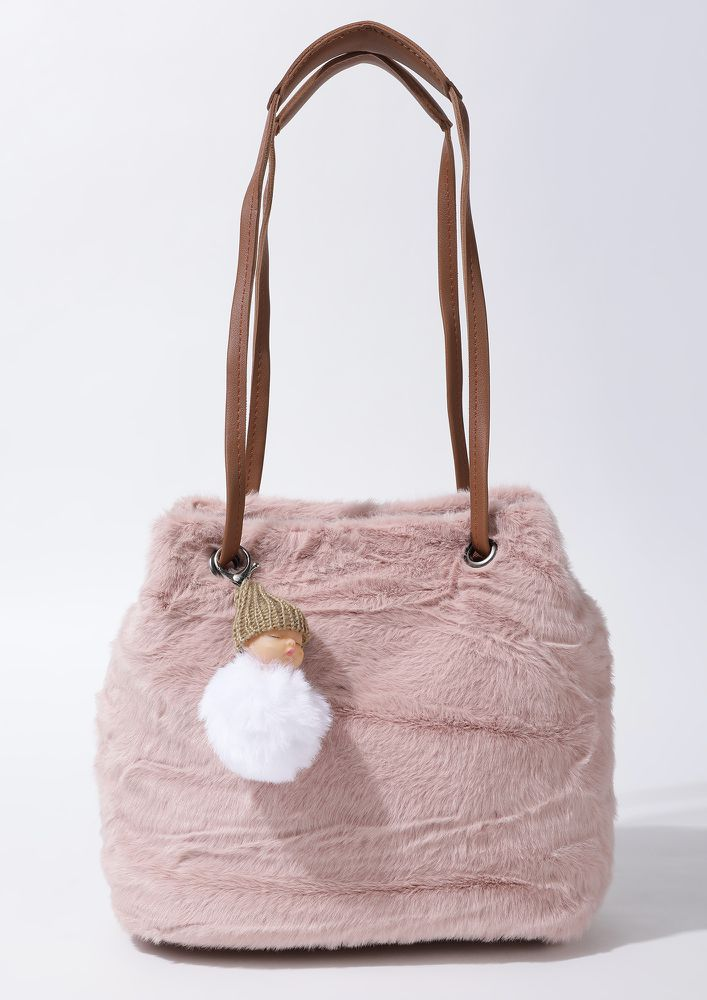 FUR SO FAR PINK TOTE BAG