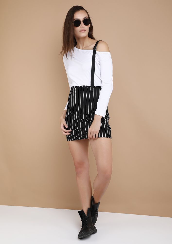 OUTDOOR LOVER WHITE ONE SHOULDER TOP