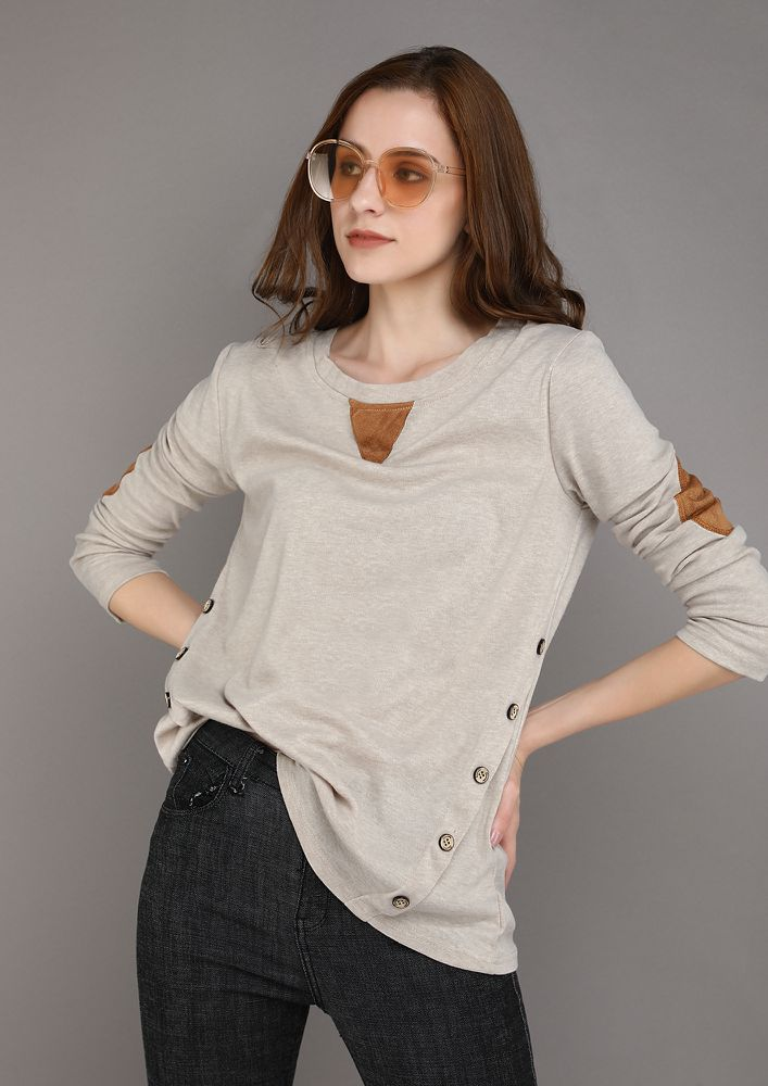 COMFORTABLY YOURS APRICOT TOP