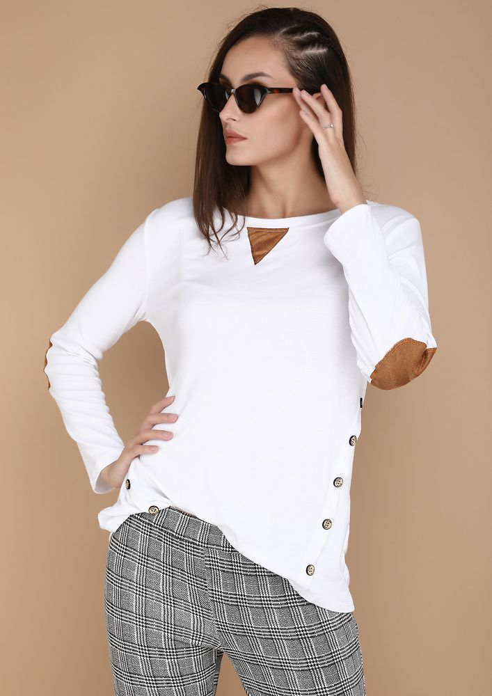 COMFORTABLY YOURS WHITE TOP
