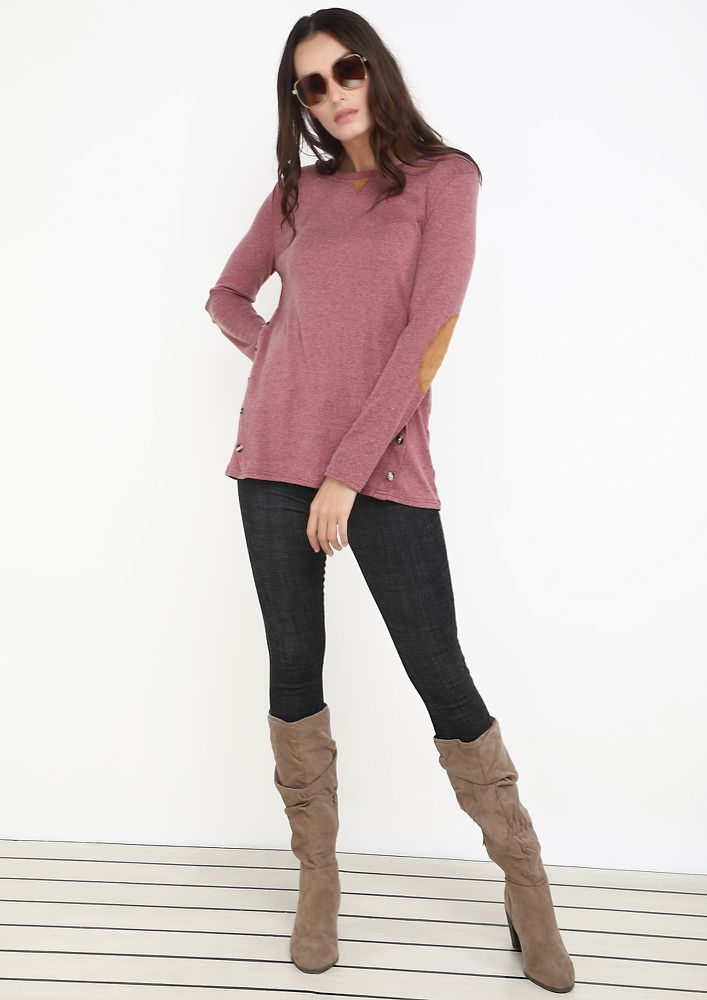 COMFORTABLY YOURS PINK TOP