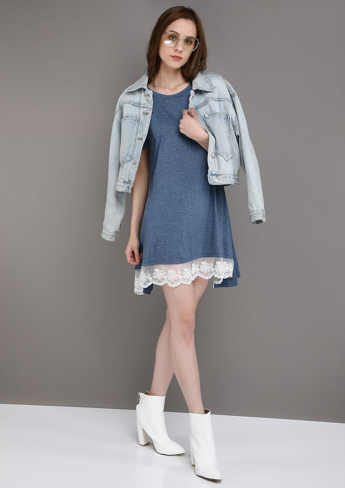 LET IT LOOSE BLUE TUNIC TOP