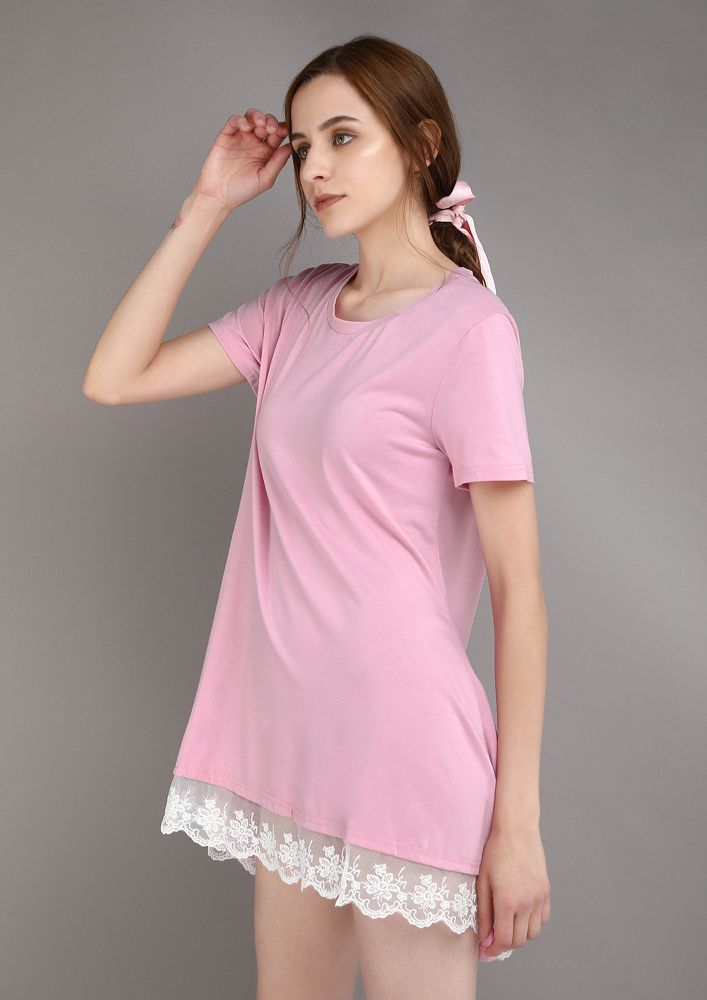 LET IT LOOSE PINK TUNIC TOP