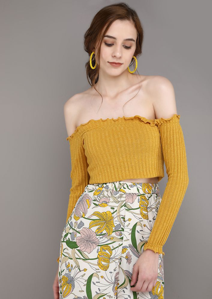 SEDUCING THE MOMENT YELLOW TOP