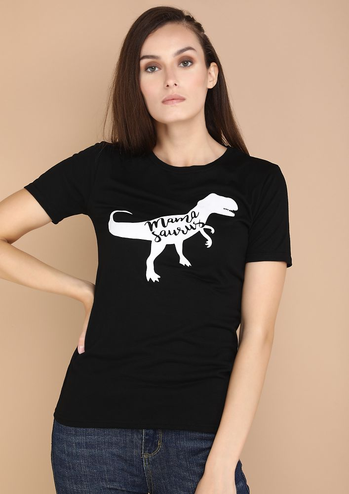 LIKE A CASUAL DAY BLACK T-SHIRT