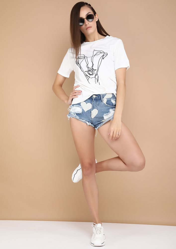 RAPID TRENDS WHITE T-SHIRT