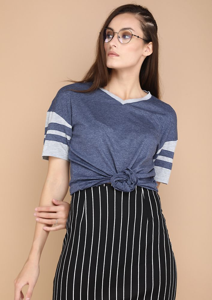 CASUAL AND COOL BLUE TOP