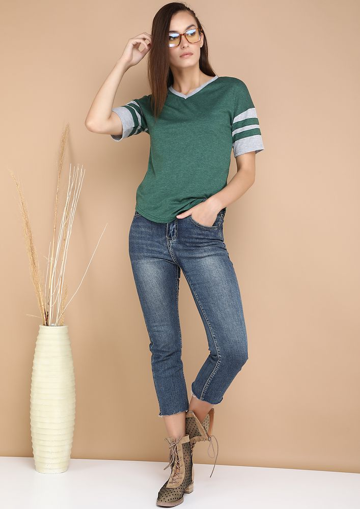 COOLIO FIT AND FINE GREEN TOP