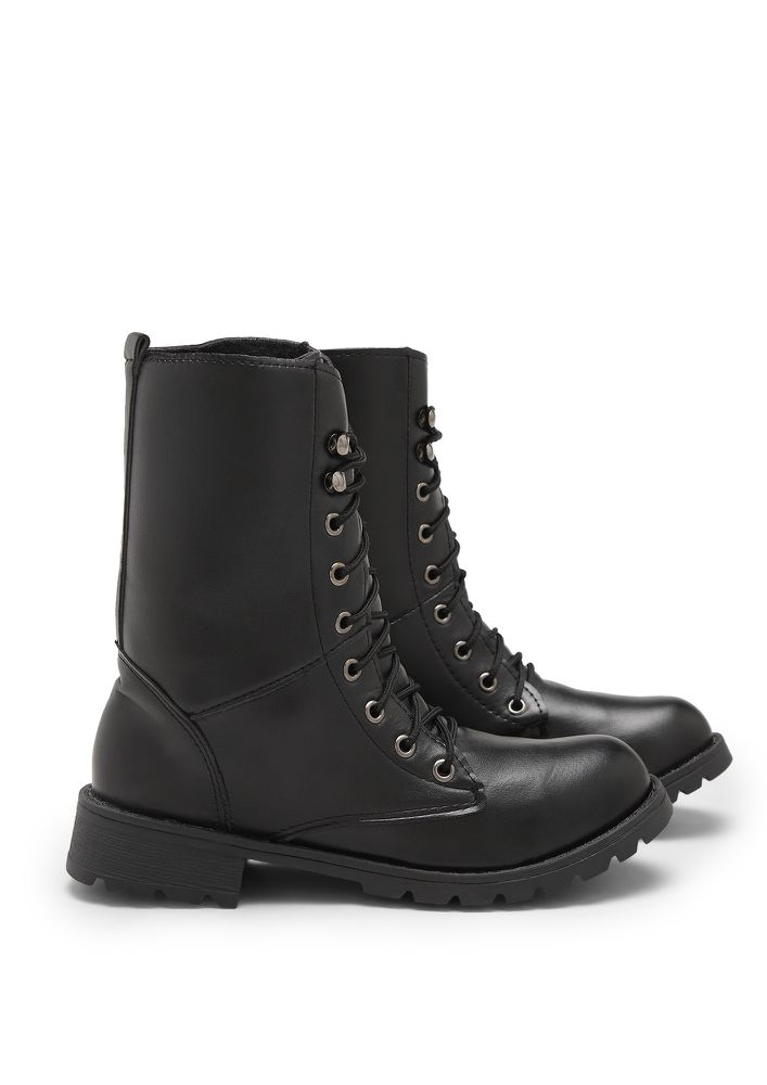 CALL OF THE TRAIL BLACK COMBAT BOOTS