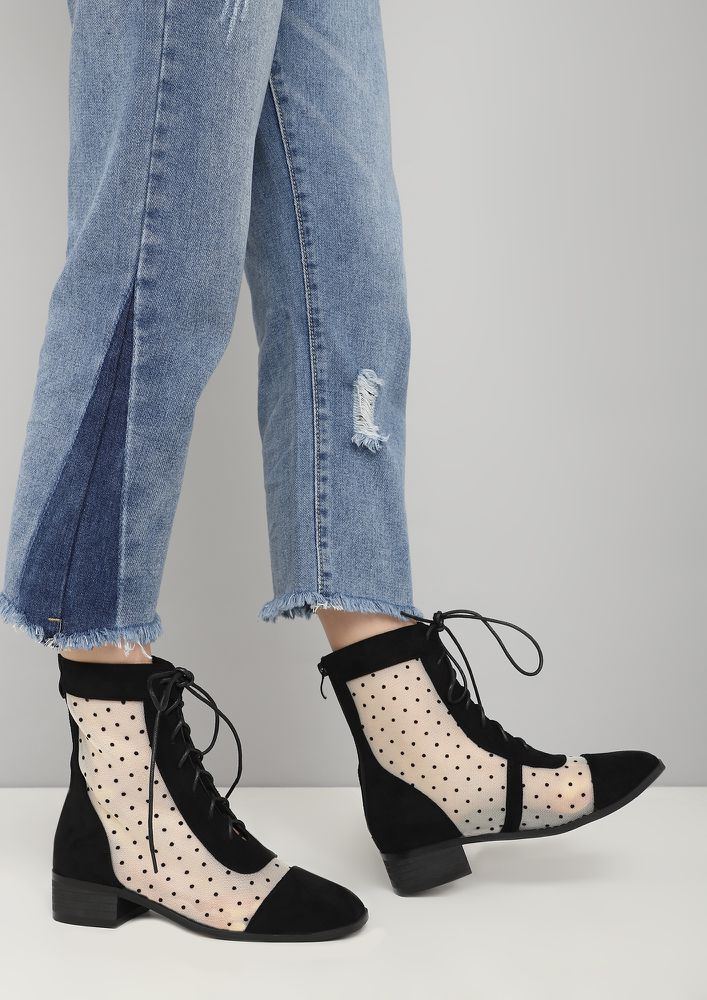 TAKE TWO BLACK ANKLE BOOTS