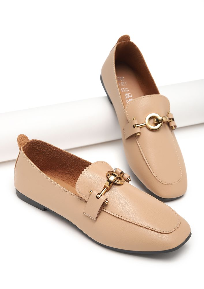 LINE OF DUTY APRICOT LOAFERS