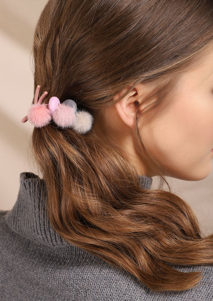 ARE YOU TEDDY PINK SCRUNCHIE