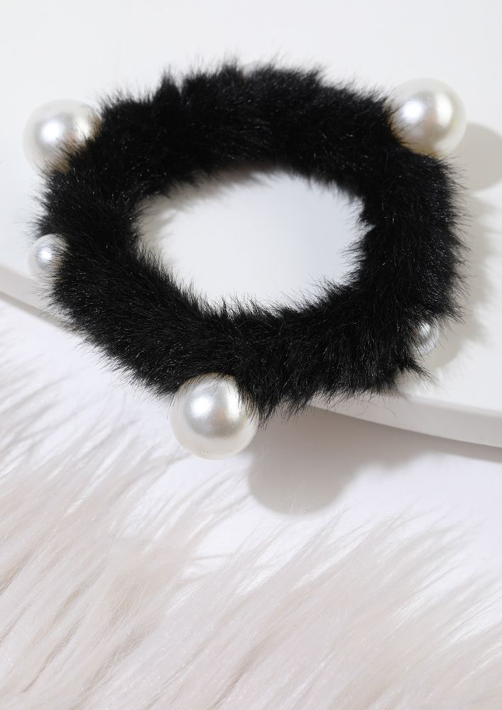 CRAZY FOR YOUR LOVE BLACK SCRUNCHIE