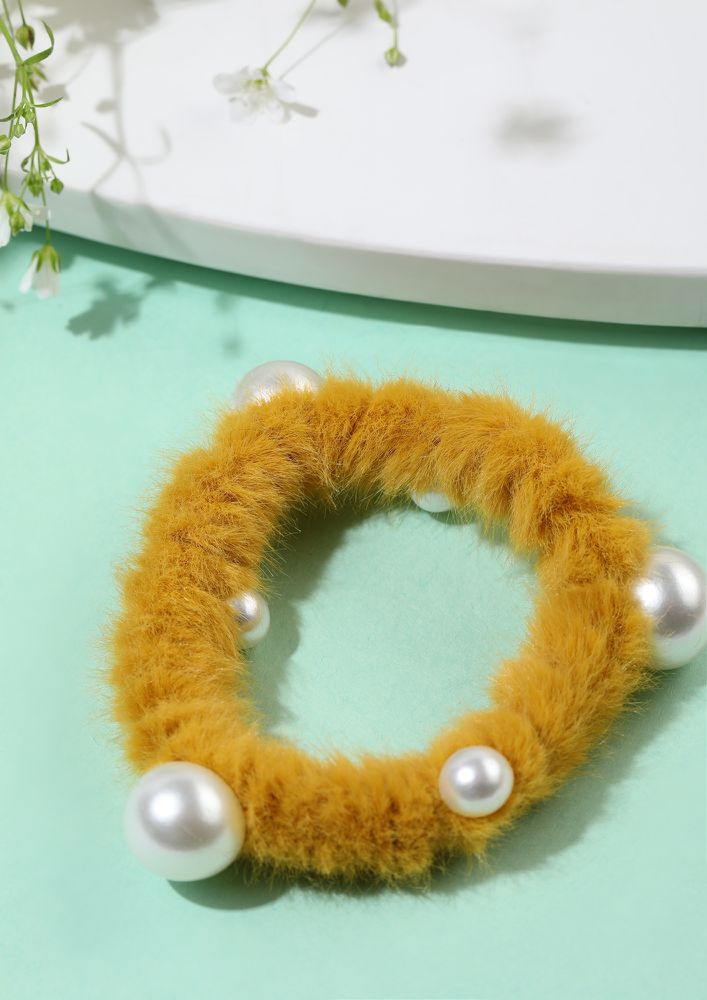 CRAZY FOR YOUR LOVE YELLOW SCRUNCHIE