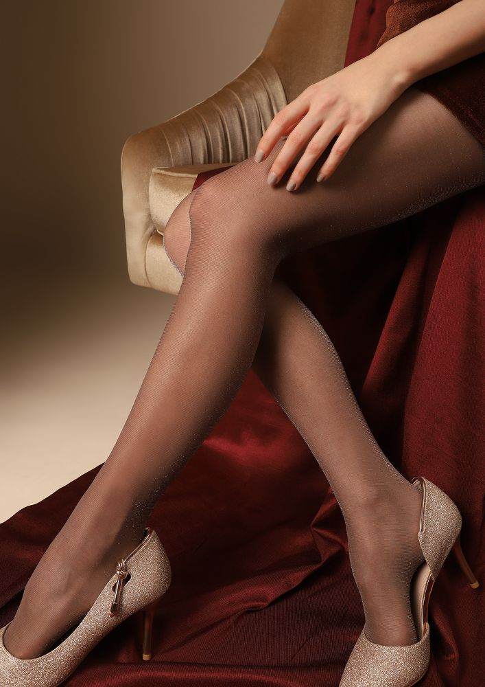 ADD SOME SHIMMER COFFEE BROWN STOCKINGS
