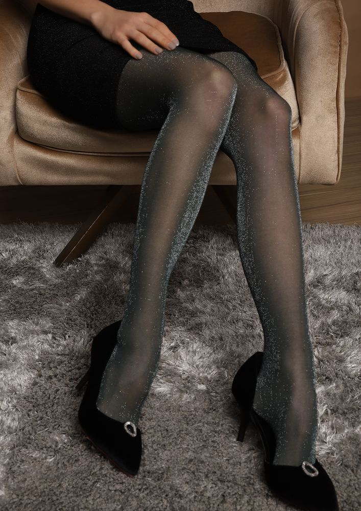 ADD SOME SHIMMER GREEN STOCKINGS