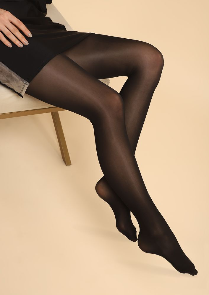 CLEAR AND SHEER BLACK STOCKINGS
