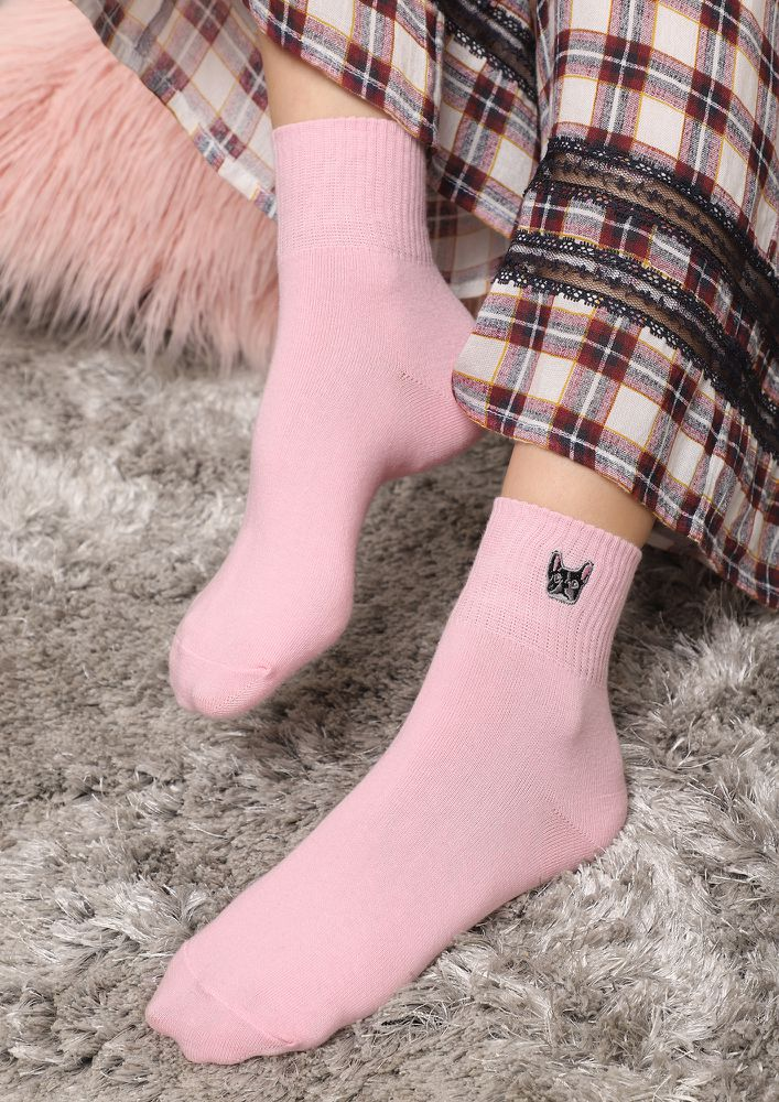 SUCH AN ANIMAL LOVER PINK SOCKS