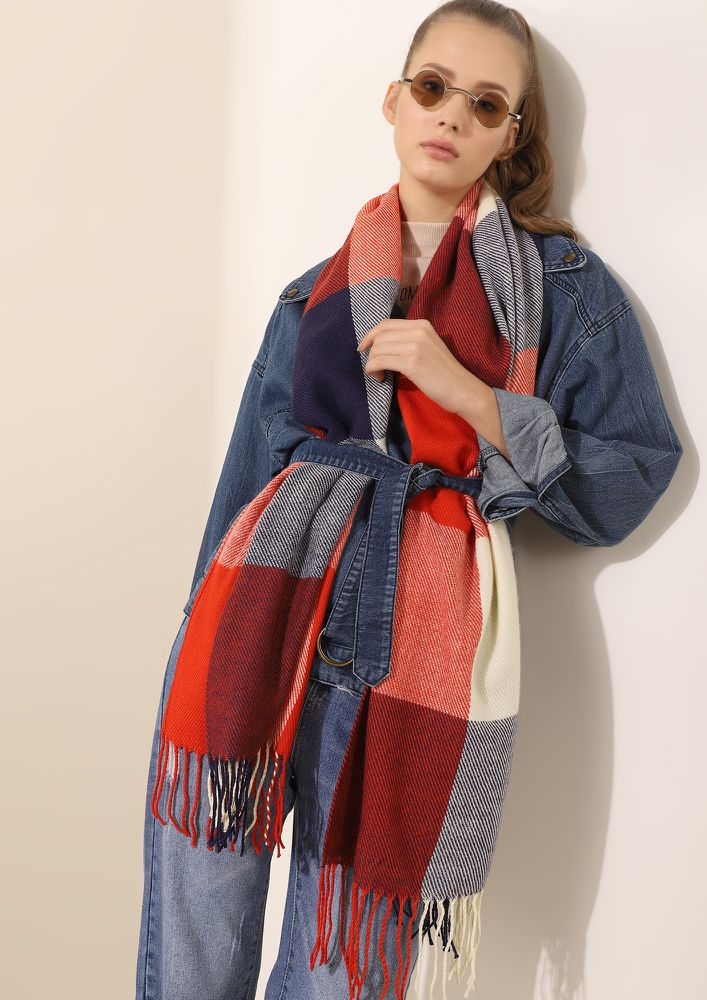 WINETR PROOF AND PERFECT MULTICOLOR BLANKET STOLE
