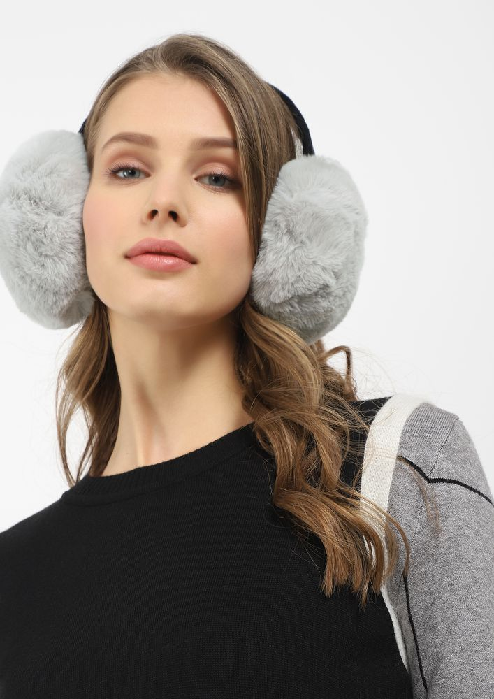 HOW ABOUT NOW GREY EARMUFFS