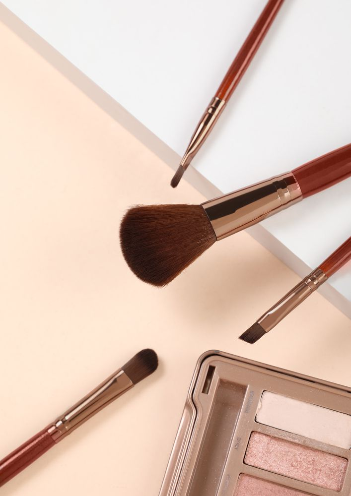 STYLE STORIES BROWN MAKEUP BRUSHES -  SET OF 4