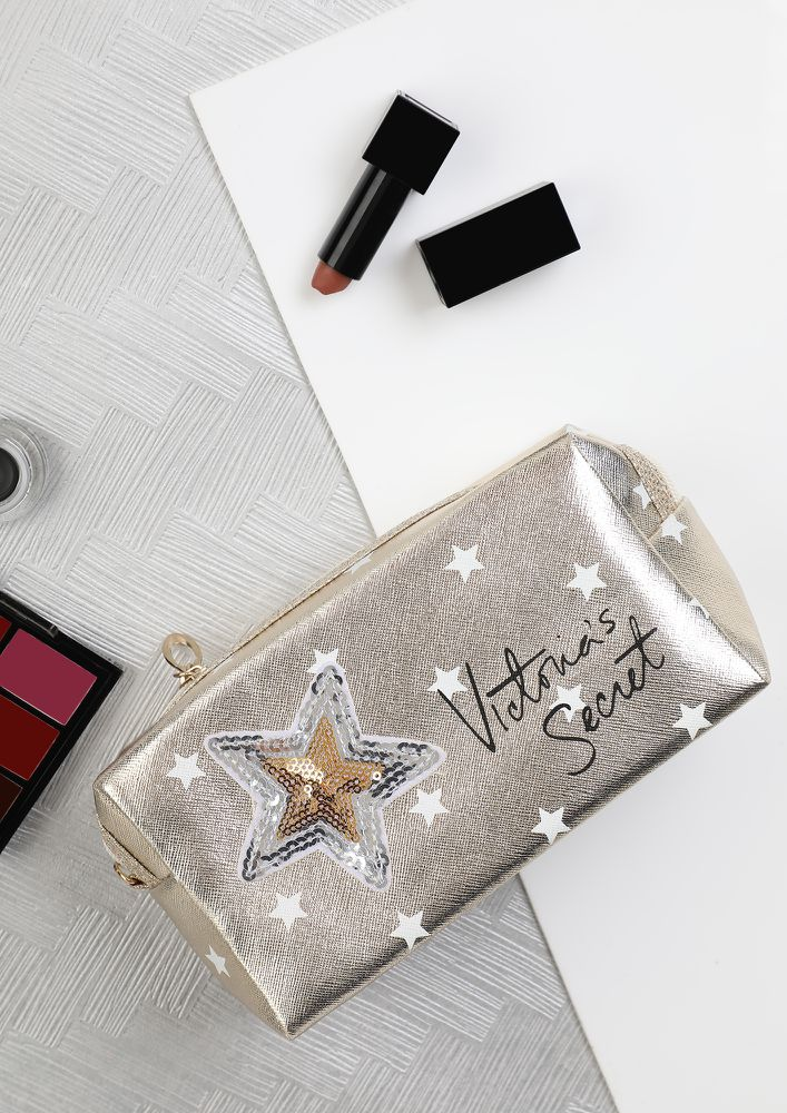 STAR SECRETS WHITE MAKE-UP POUCH