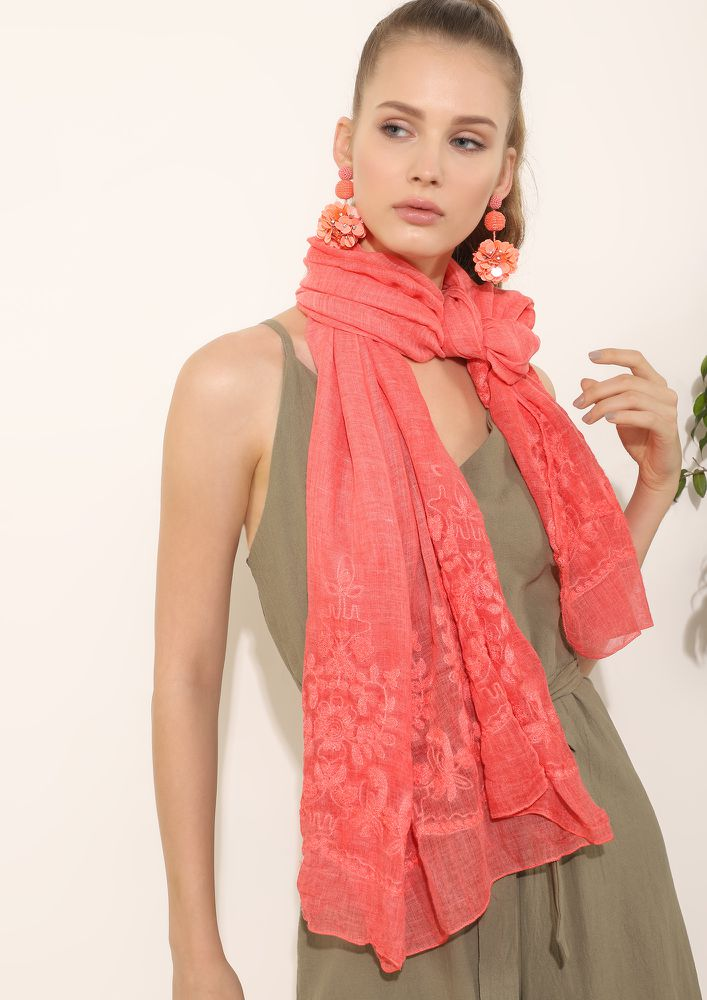 SWEET SUMMERY FEELS ORANGE SCARF