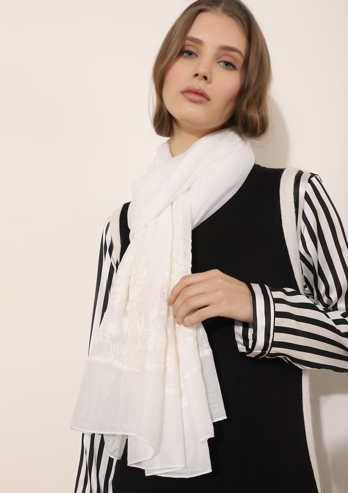ALREADY MISSING SUMMER WHITE SCARF