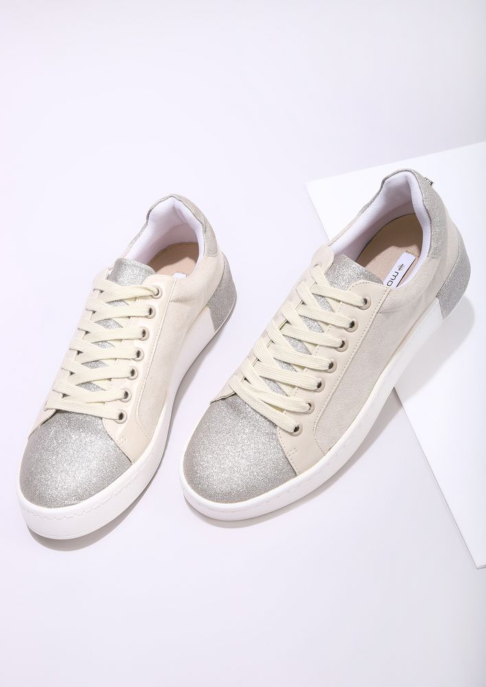WALK AND SHINE BEIGE TRAINERS