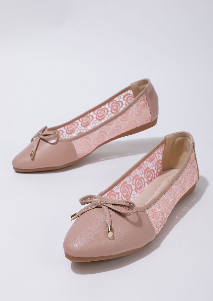 THE DELICATE DARLING PINK BALLET FLATS