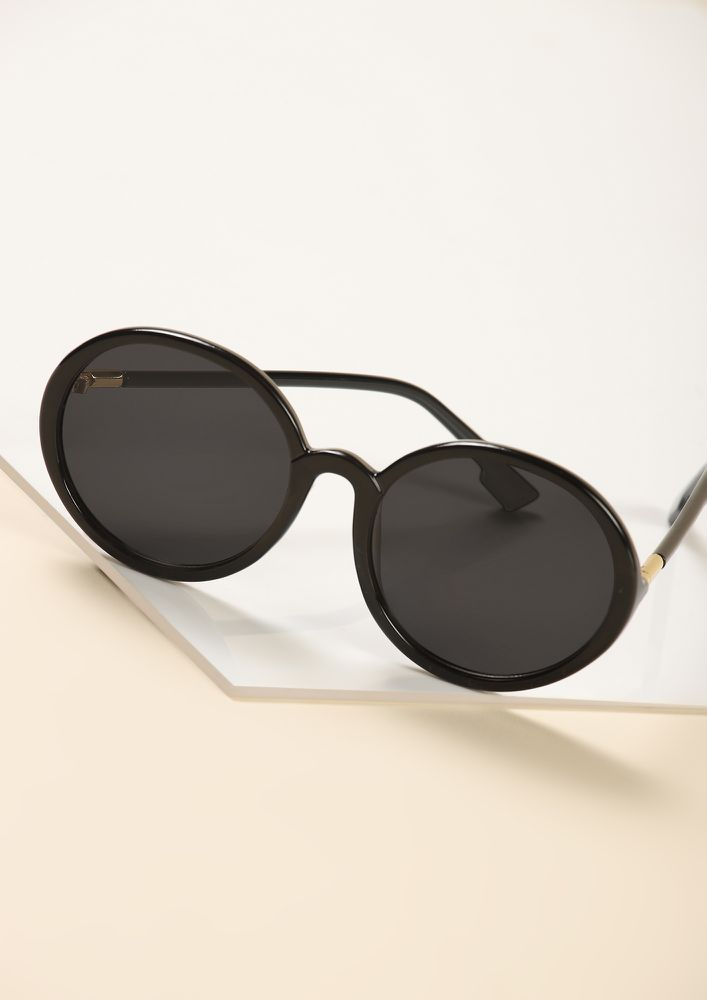 HEY BIG BEE BLACK RETRO SUNGLASSES