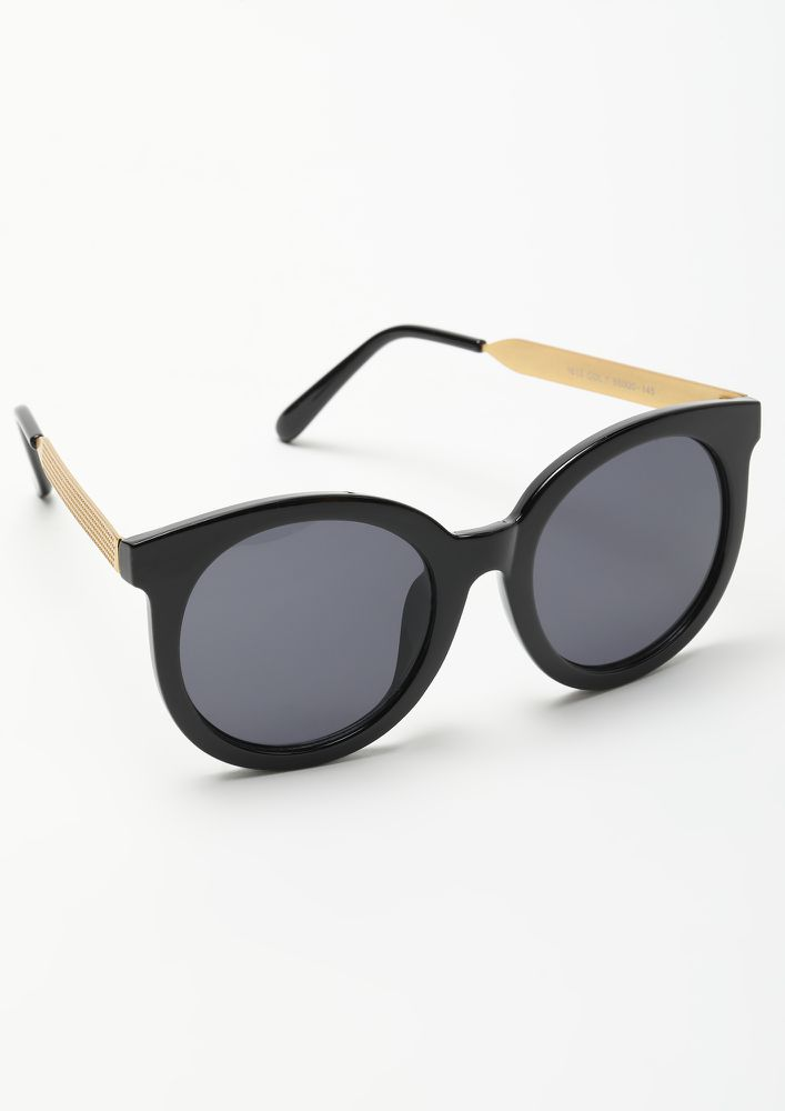MAKE IT POP BLACK CATEYE SUNGLASSES