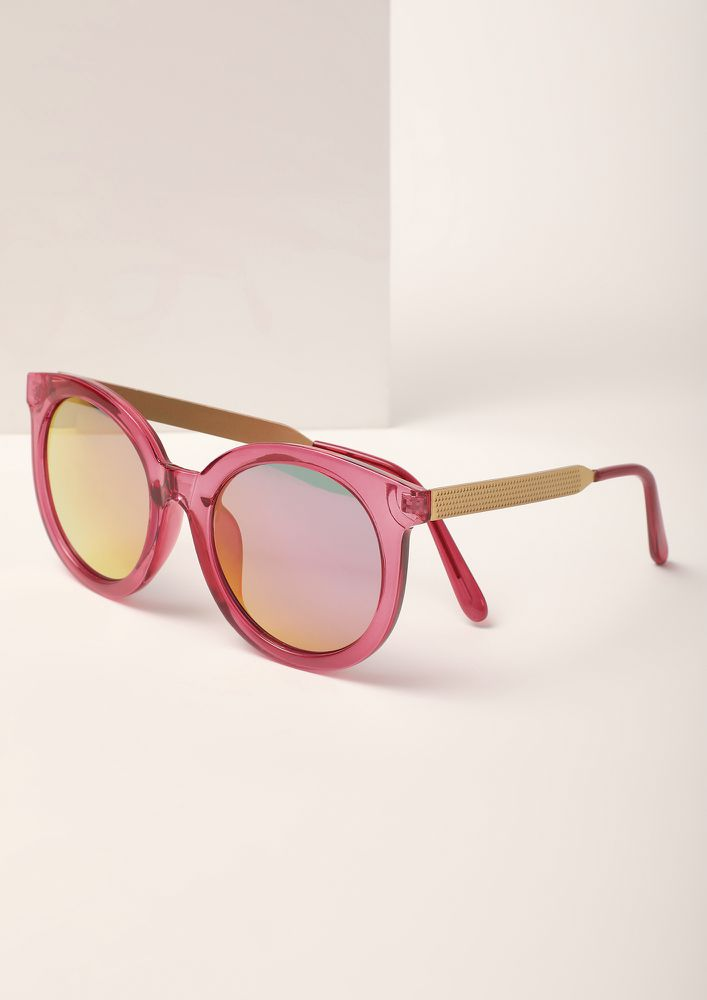 MAKE IT POP PINK CATEYE SUNGLASSES